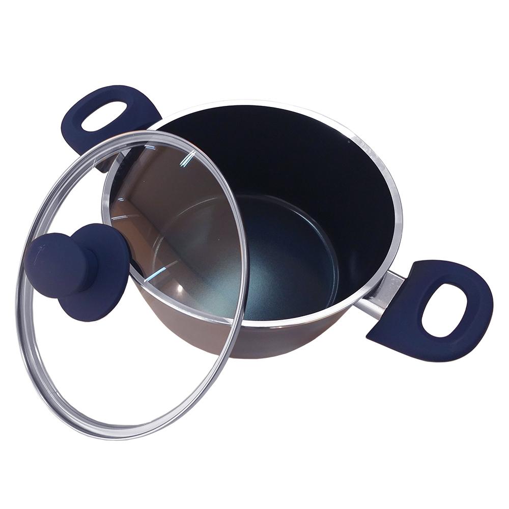 Jogo de Panelas Revest Cerâmico 4,5mm 5pçs Azul Class Home