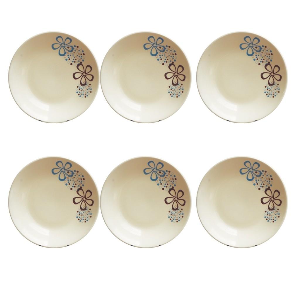 Jogo de Pratos de Sobremesa Burbujas 6 pçs