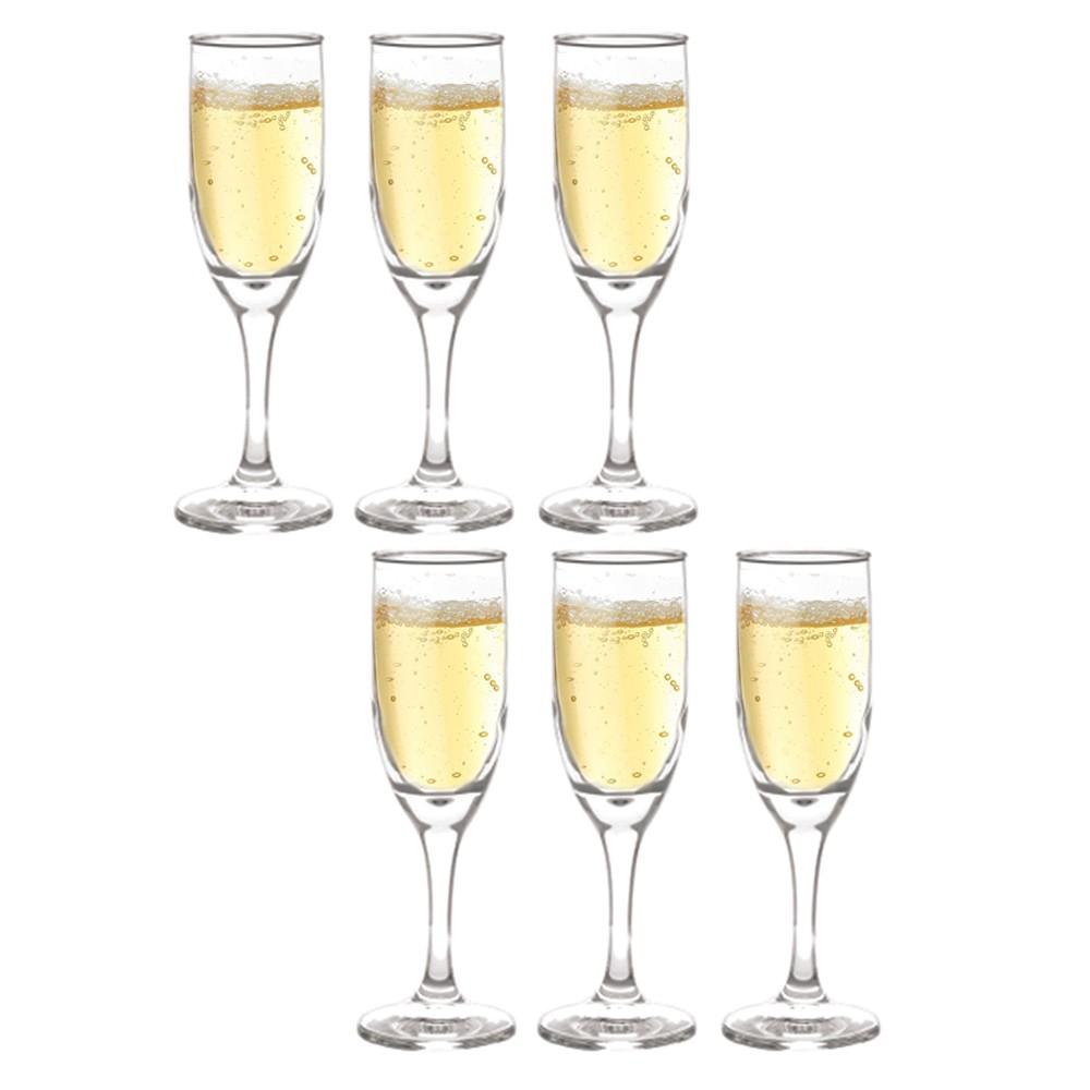 Jogo de Taça Champagne Aragon 176 ml 6 Peças Class Home