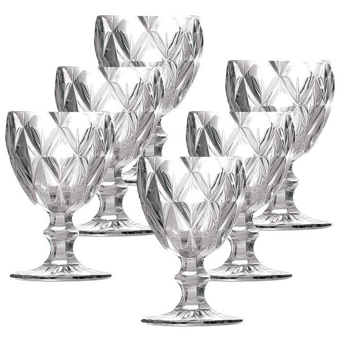 Jogo de Taças Água Diamante Clear Casamiga