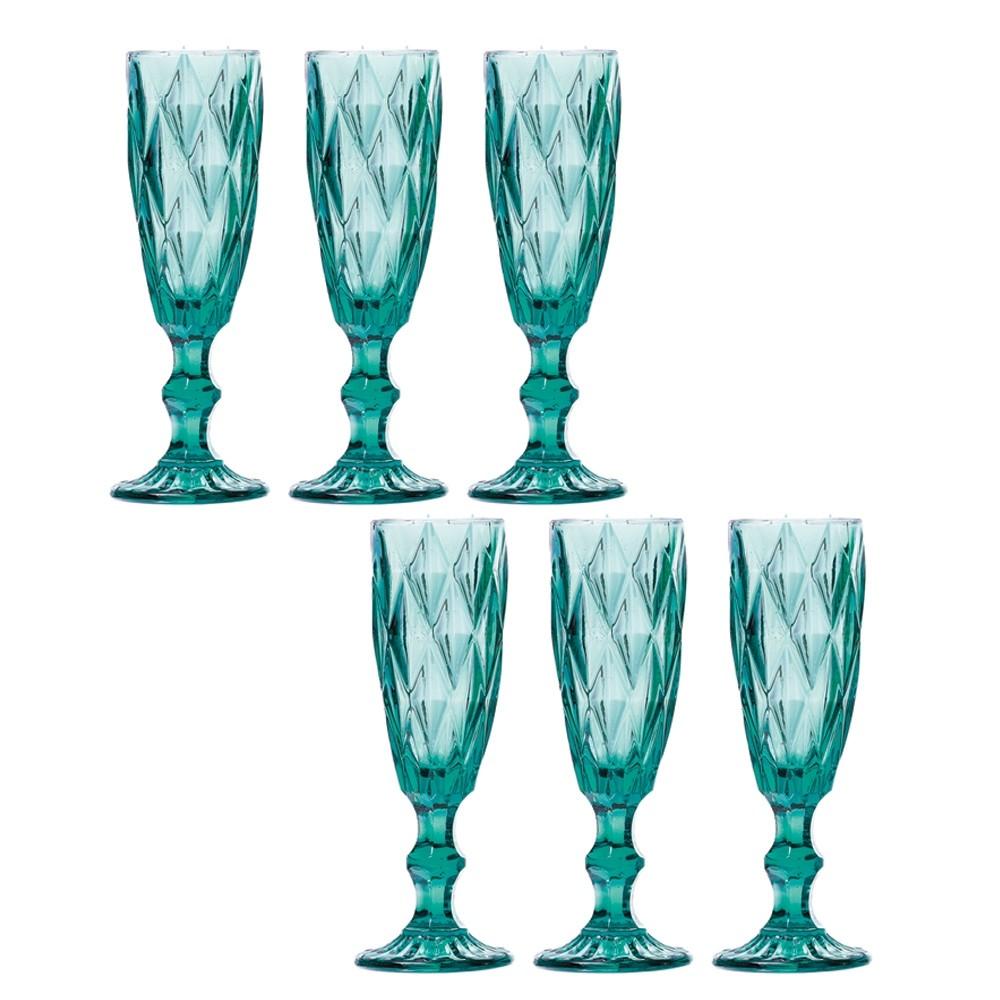 Jogo de Taças Champagne Diamante Tiffany 140ml Class Home