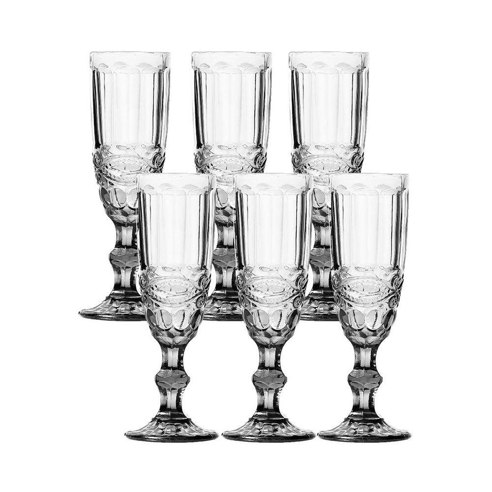 Jogo de Taças Champagne Elegance Clear 140ML Class Home