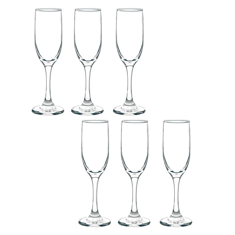 Jogo de Taças Champagne Rioja 177ml 6 Peças