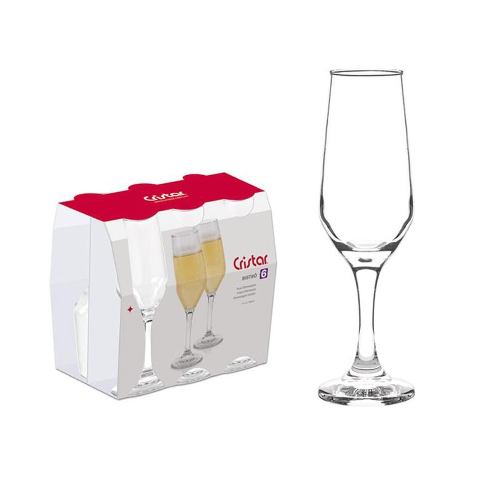 Jogo de Taças  Champagne Bistro 6PÇS 186ML - Cristar