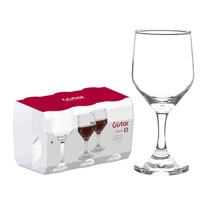 Jogo de Taças de Vinho Bistro 263 ml 6 Peças