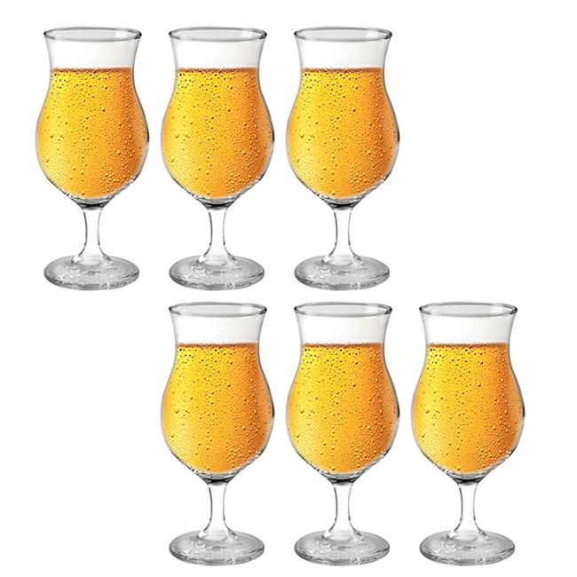 Jogo de Taças Praga para Cerveja 442ML - 6 Pçs - Cristar