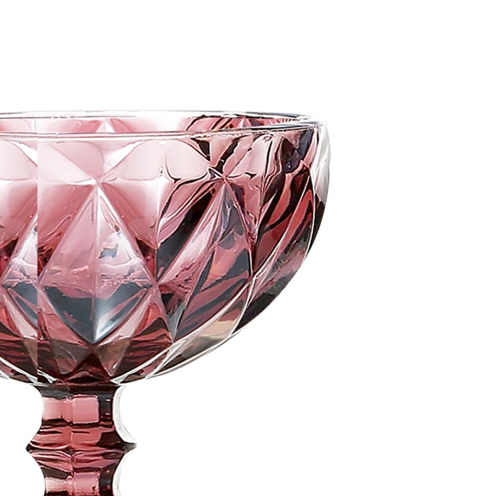 Jogo de Taças Sobremesa Diamante Lilás 310ML Class Home