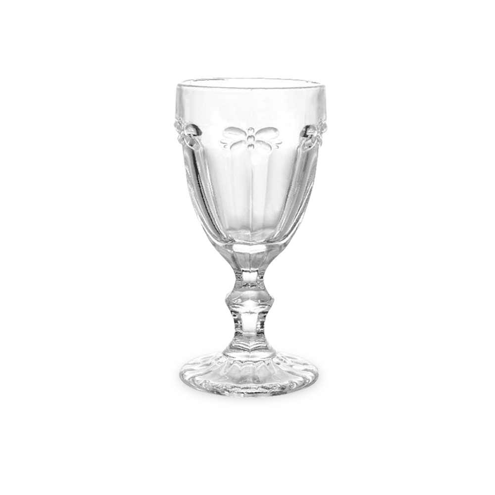 Jogo de Taças Vinho Libélula Clear 210 ml Vidro Class Home
