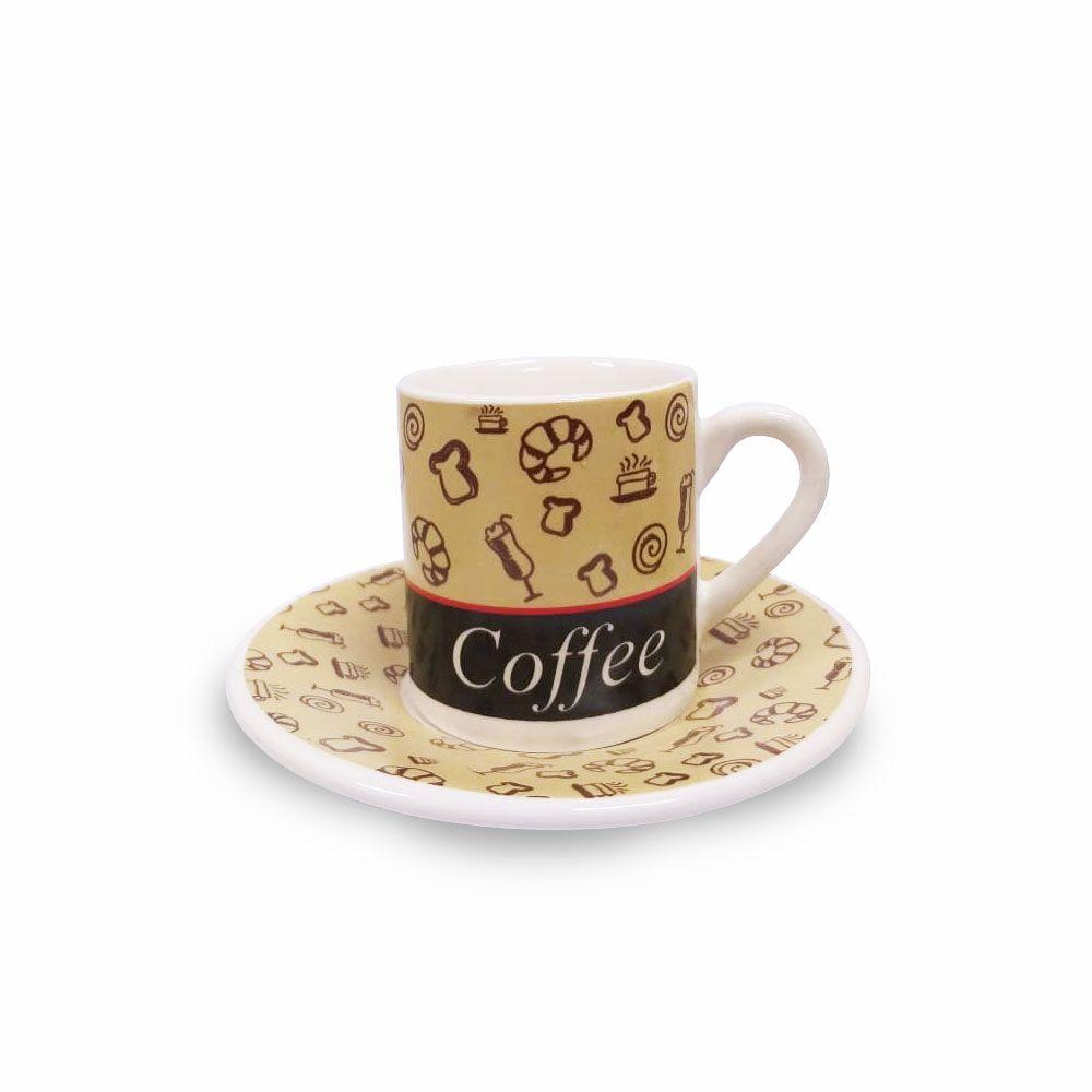 Jogo de Xícaras Café Coffee 12 peças Class Home