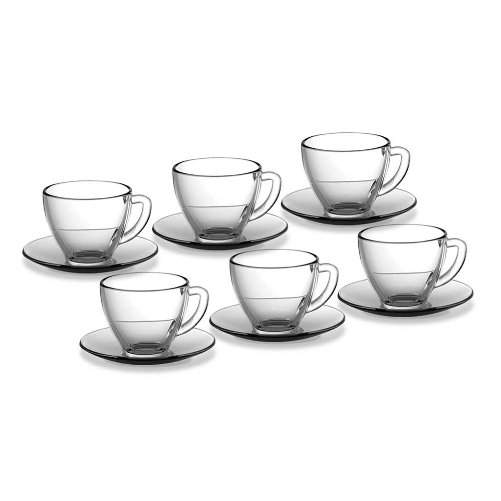 Jogo de Xícaras de Café 90 ml Vidro 12 pçs Class Home