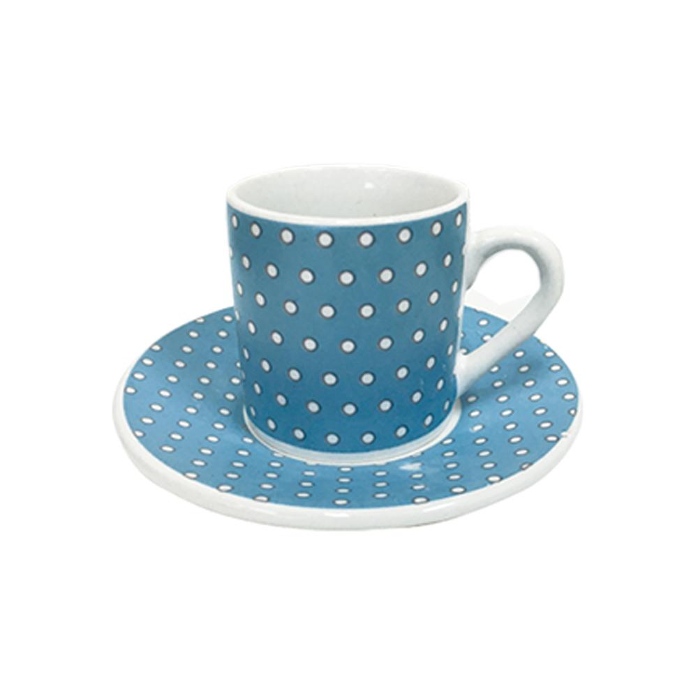 Jogo de Xícaras de Café Azul 12 peças Class Home
