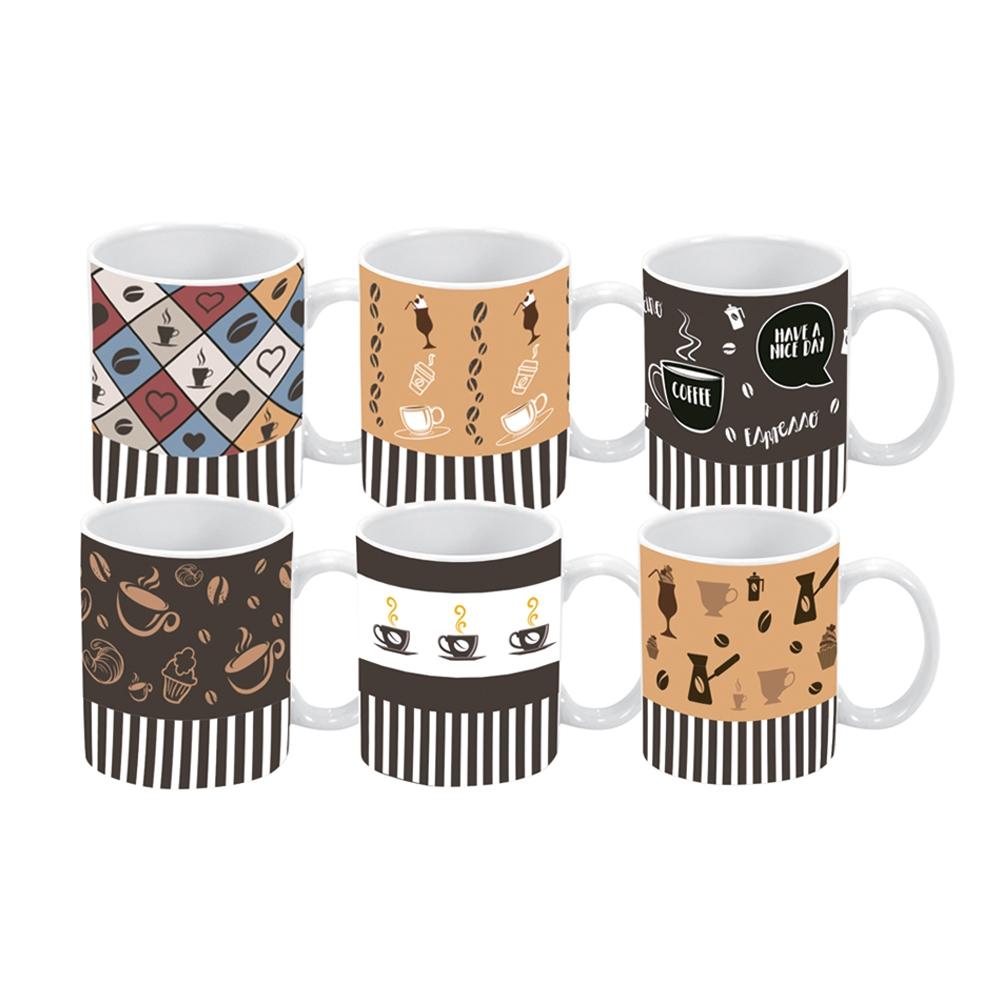 Jogo de Xícaras de Café Coffe 85 ml 6 peças Class Home