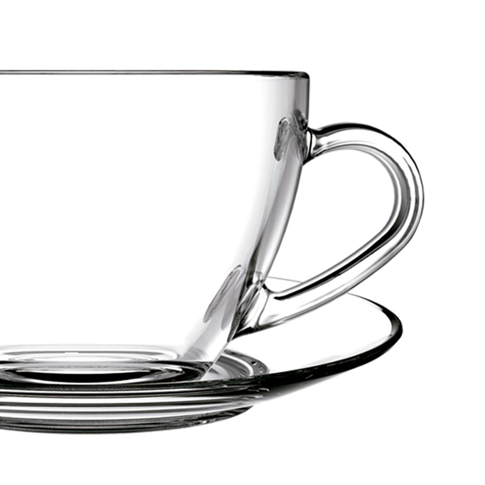 Jogo de Xícaras de Chá 210 ml Vidro 12 peças