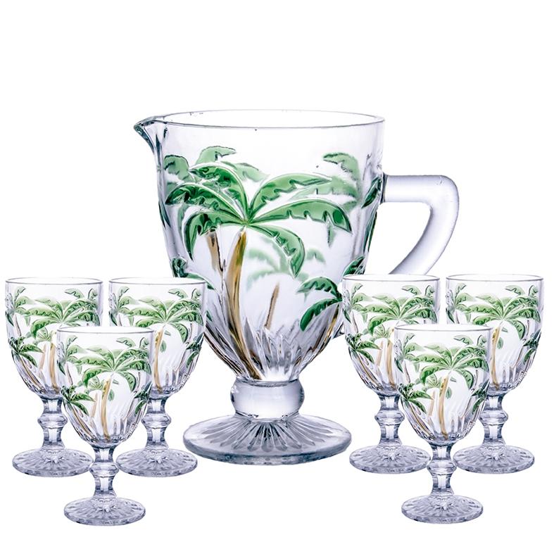 Jogo Palm Tree Color 7 peças Class Home