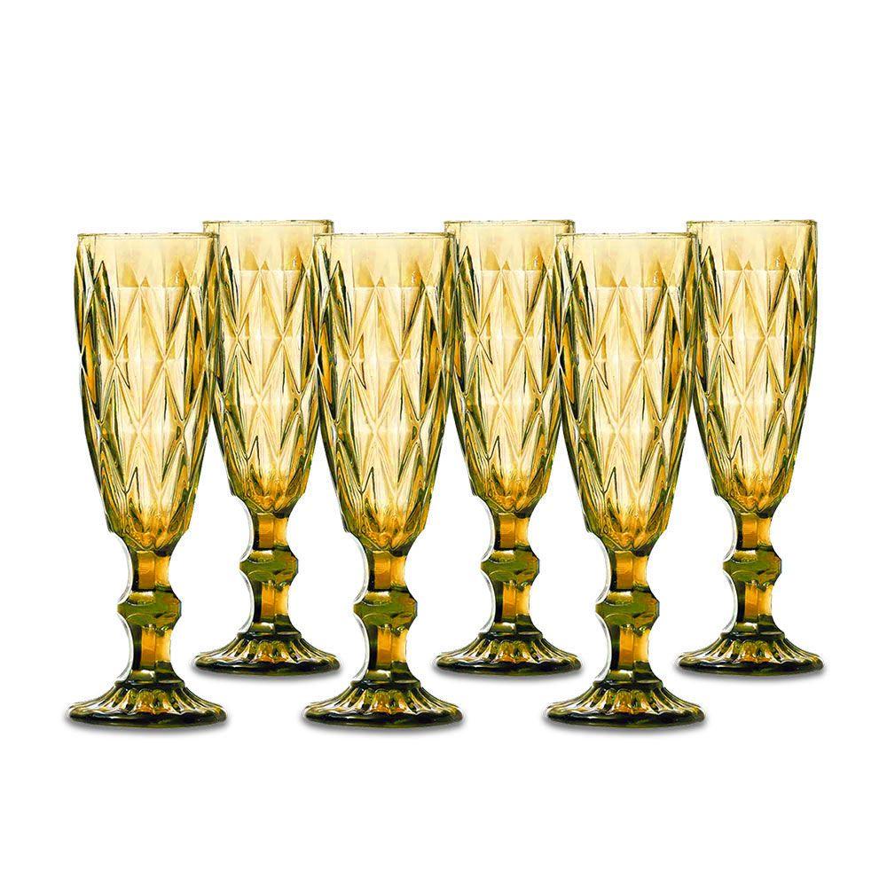 Jogo Taças Champagne Amber 140ml Class Home