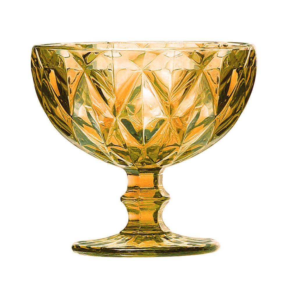 Jogo Taças Sobremesa Diamante Amber 310ml 6 peças Class Home