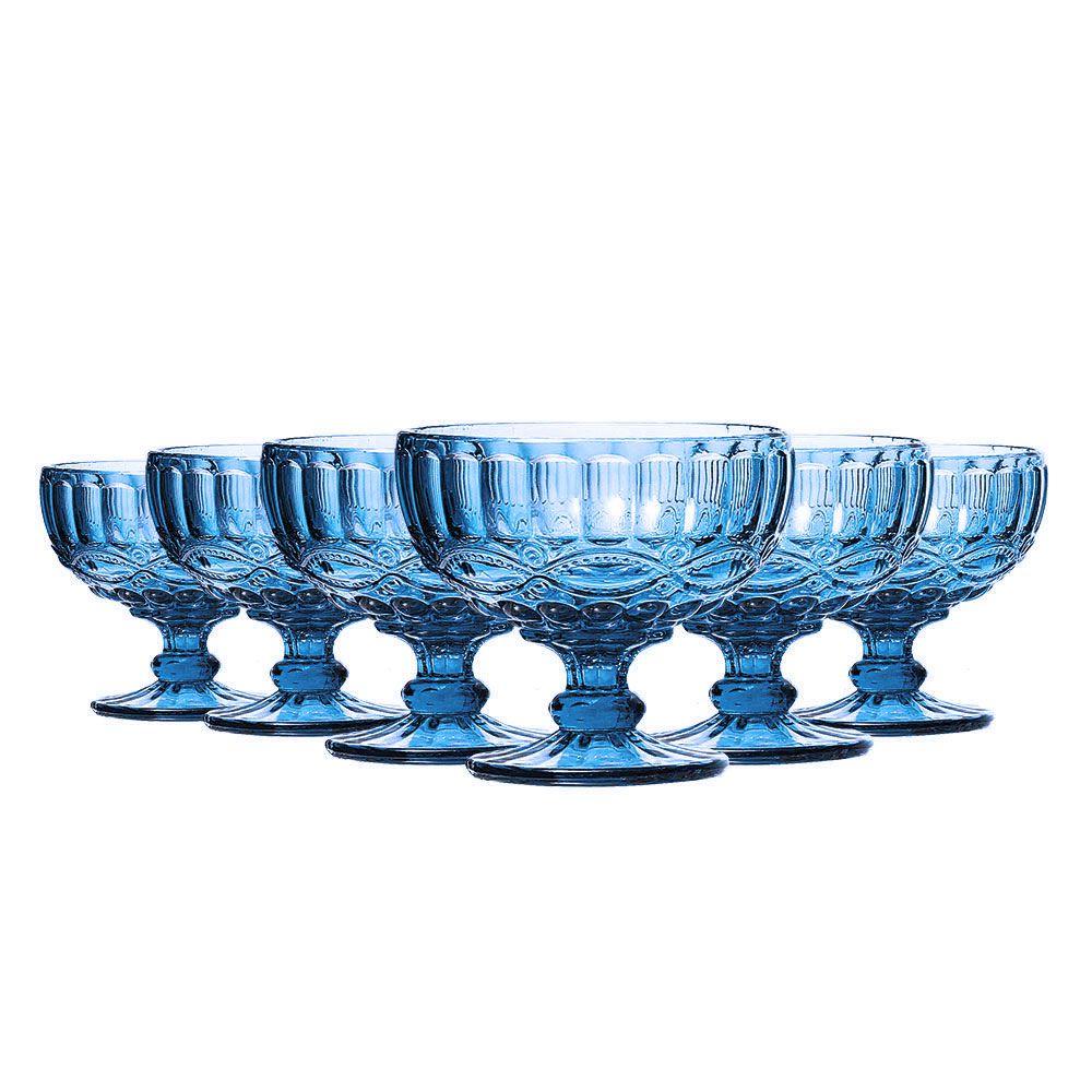 Jogo Taças Sobremesa Elegance Azul 310ml Class Home