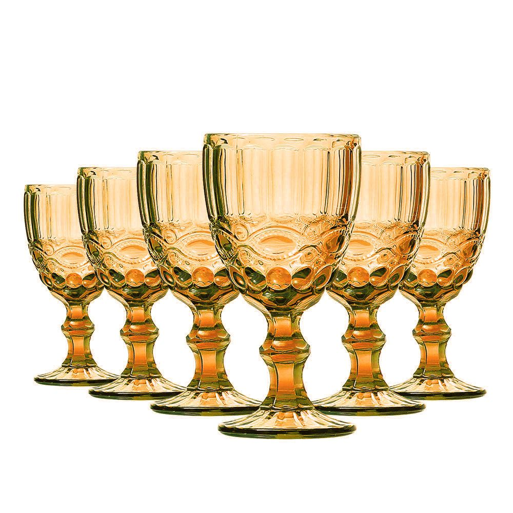 Jogo Taças Vinho Elegance Amber 210ml Class Home