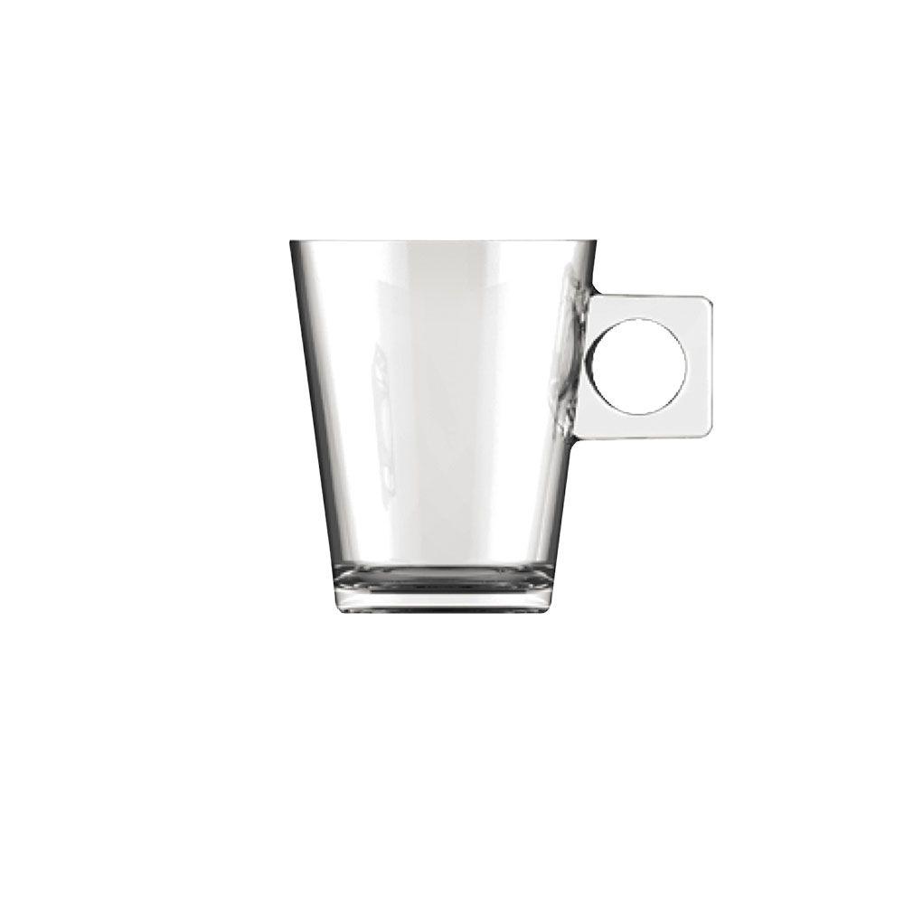 Jogo Xícaras de Café Expresso 80 ml Vidro 6 Peças Class Home