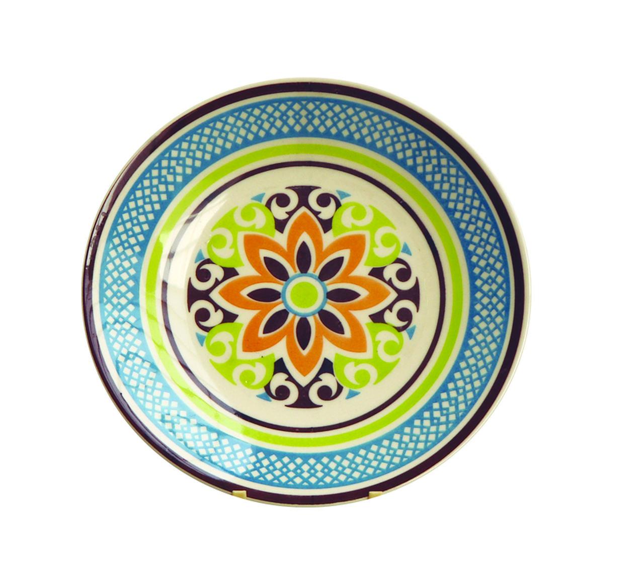Kit 6 Pratos de Sobremesa Mandala Colors