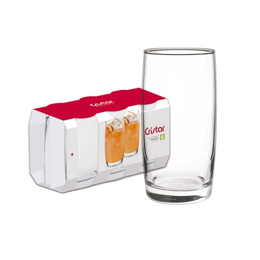 Kit de Drink Batida ou Caipirinha com Jogo de Copos 445 ml - Class Home | Cristar