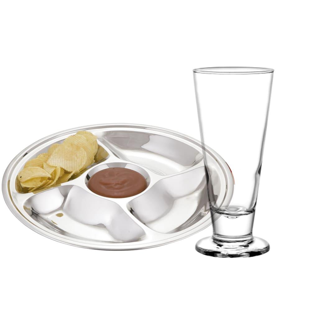 Kit Happy Hour com Copo Lexington para Chopp e Petisqueira com repartições - Cristar | Class Home