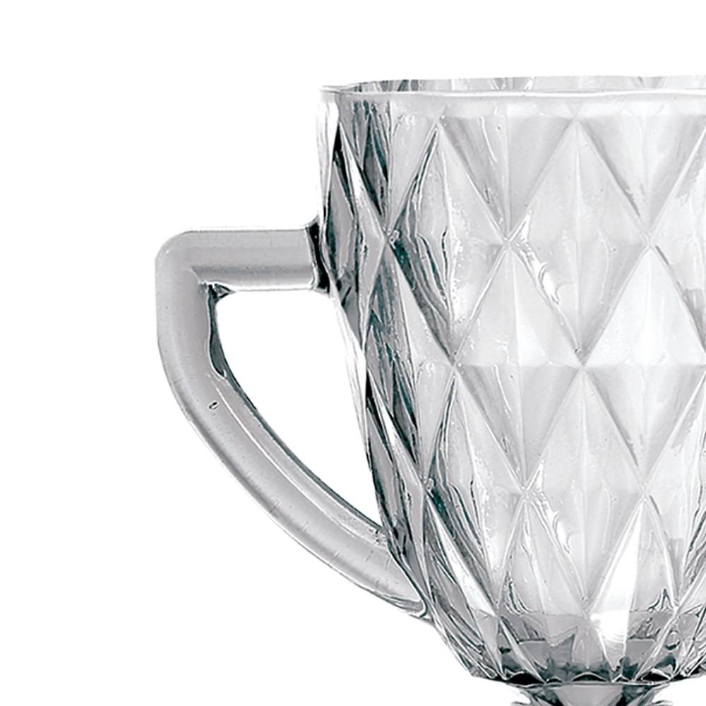 Kit Jarra 1 L + 6 Taças Diamante Clear Casamiga