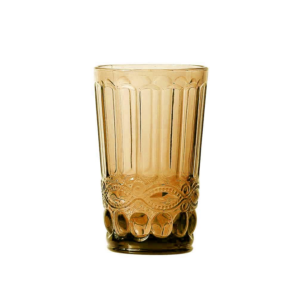 Kit Jarra 1L + 6 Copos Elegance Amber Class Home