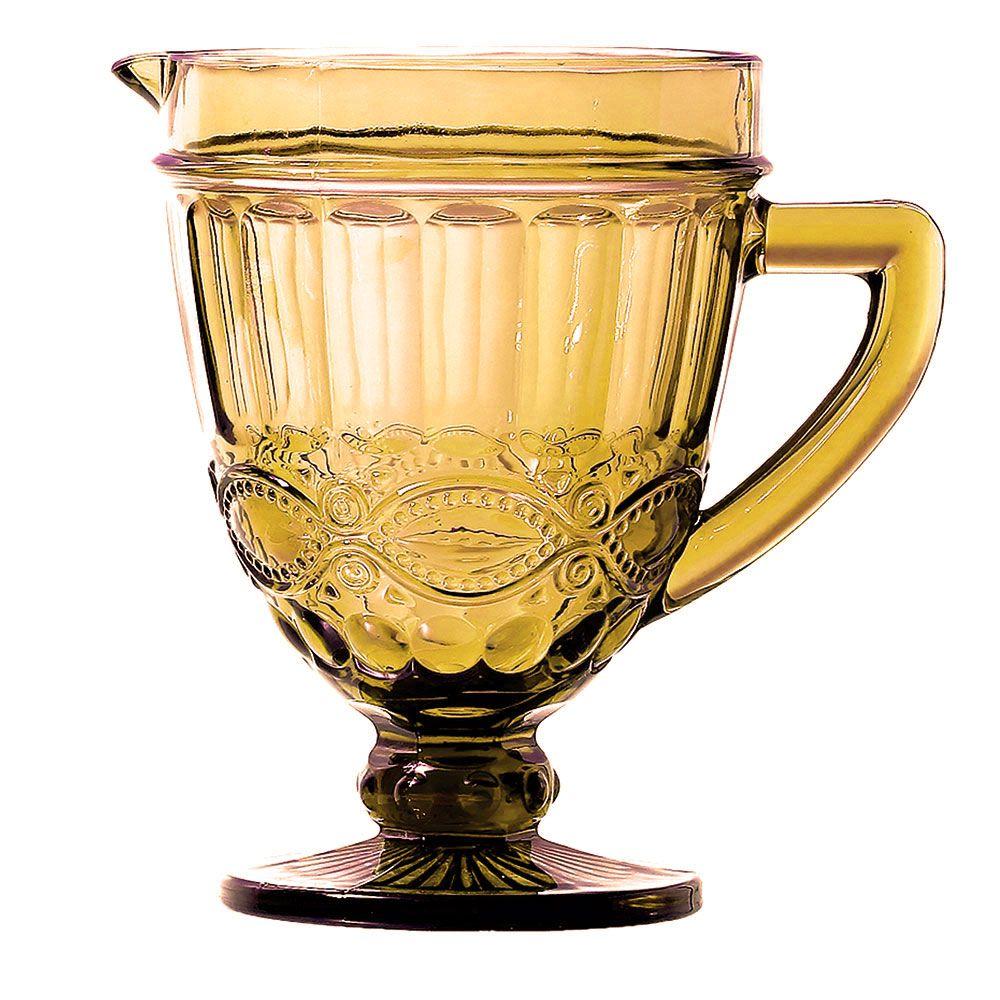 Kit Jarra 1L + 6 Taças Elegance Amber Class Home