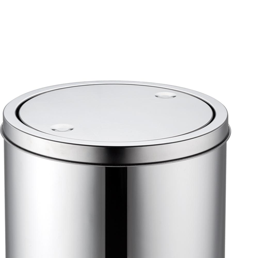 Lixeiras Inox Basculante de 3 Litros Kit 2pçs
