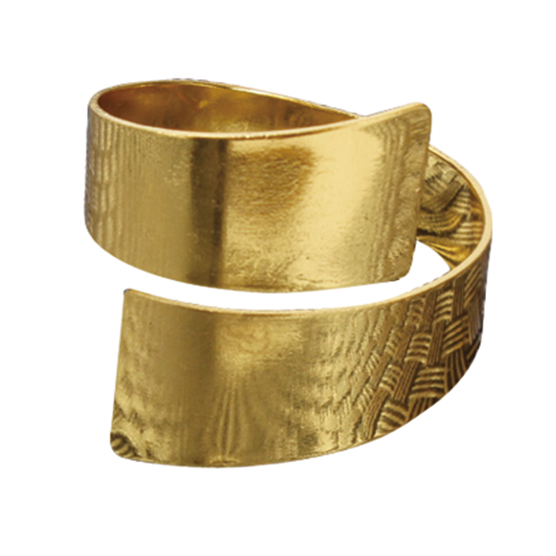 Porta Guardanapo Curvo Dourado 4 Peças