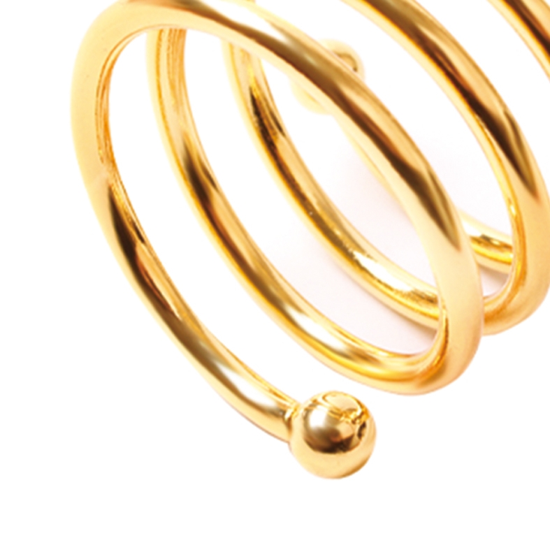 Porta Guardanapo Espiral Dourado 4 Peças