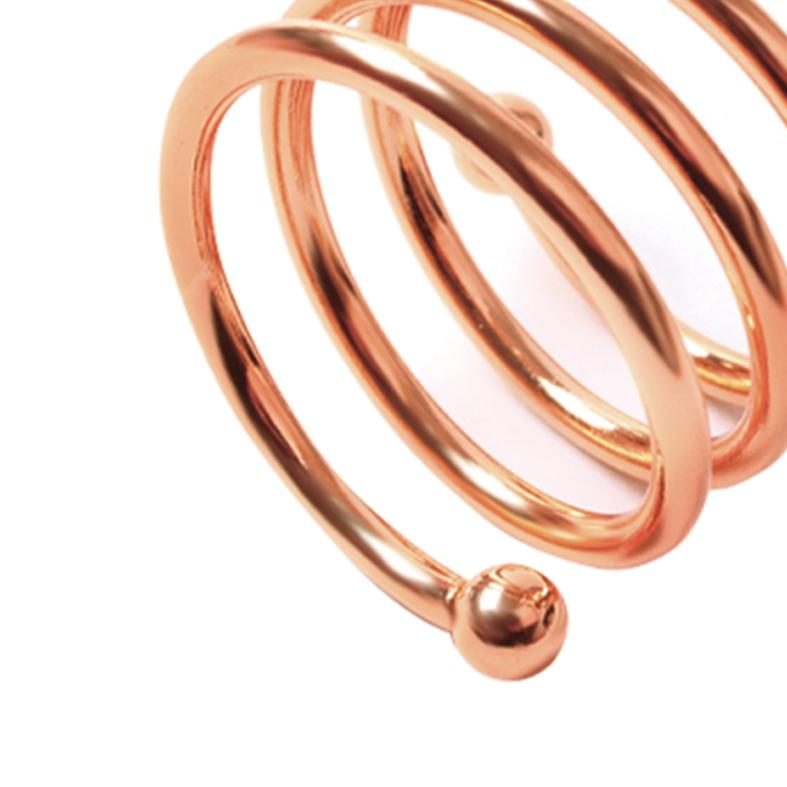 Porta Guardanapo Espiral Rose Gold 4 Peças