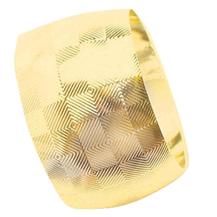 Porta Guardanapo Gold 4 Peças