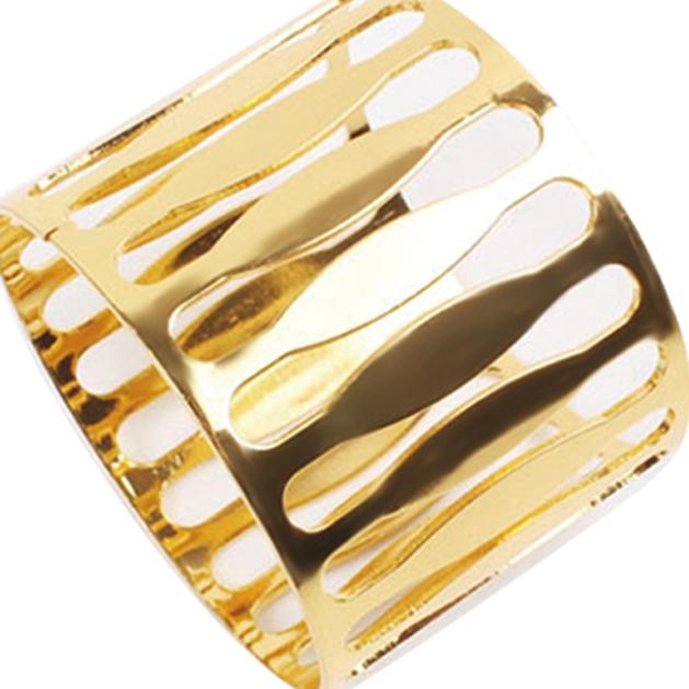 Porta Guardanapo Inox Dourado 4 Peças