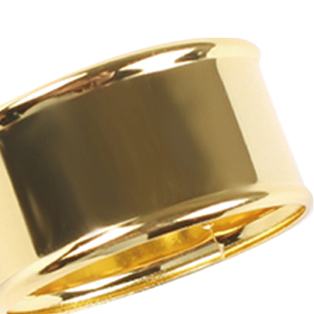 Porta Guardanapo Liso Dourado 4 Peças