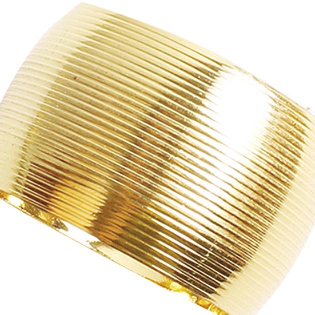 Porta Guardanapo Listrado Dourado 4 Peças