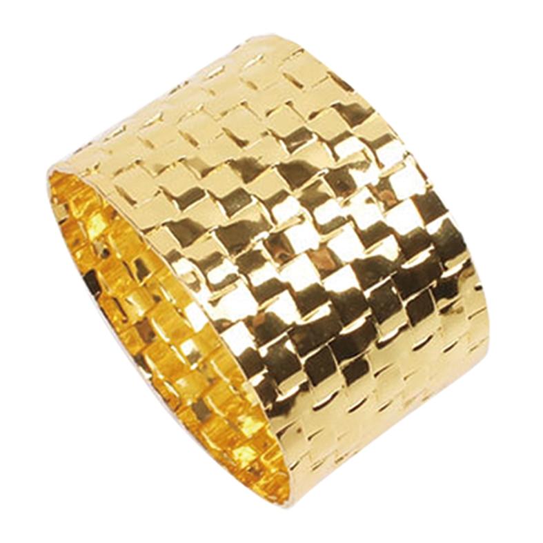 Porta Guardanapo Quadriculado Gold 4 Peças