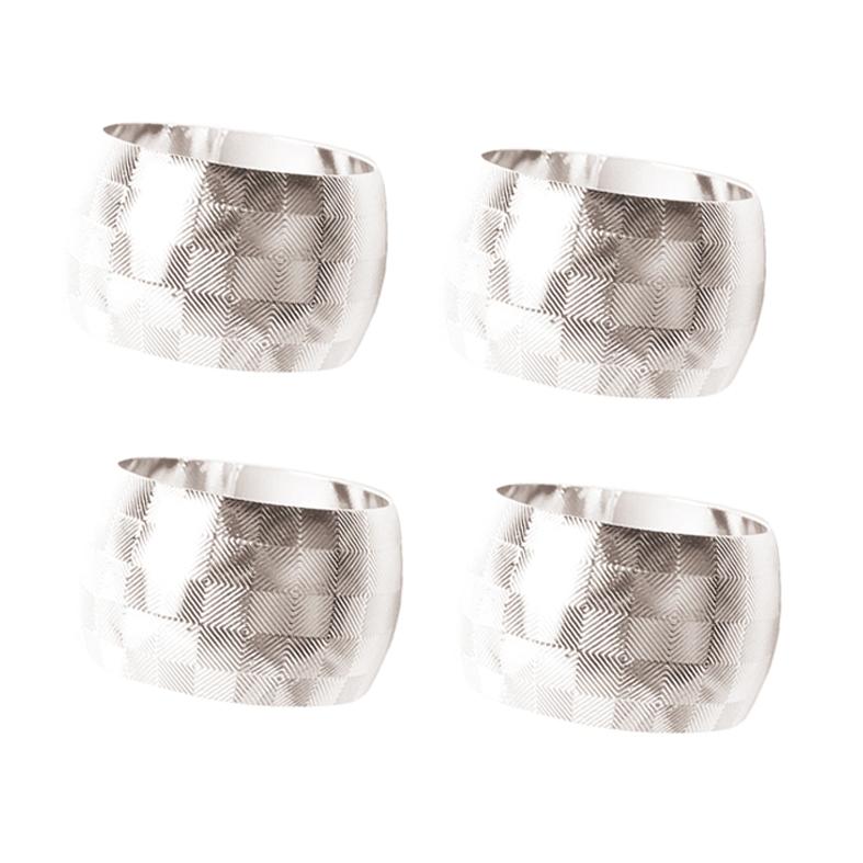Porta Guardanapo Silver 4 Peças