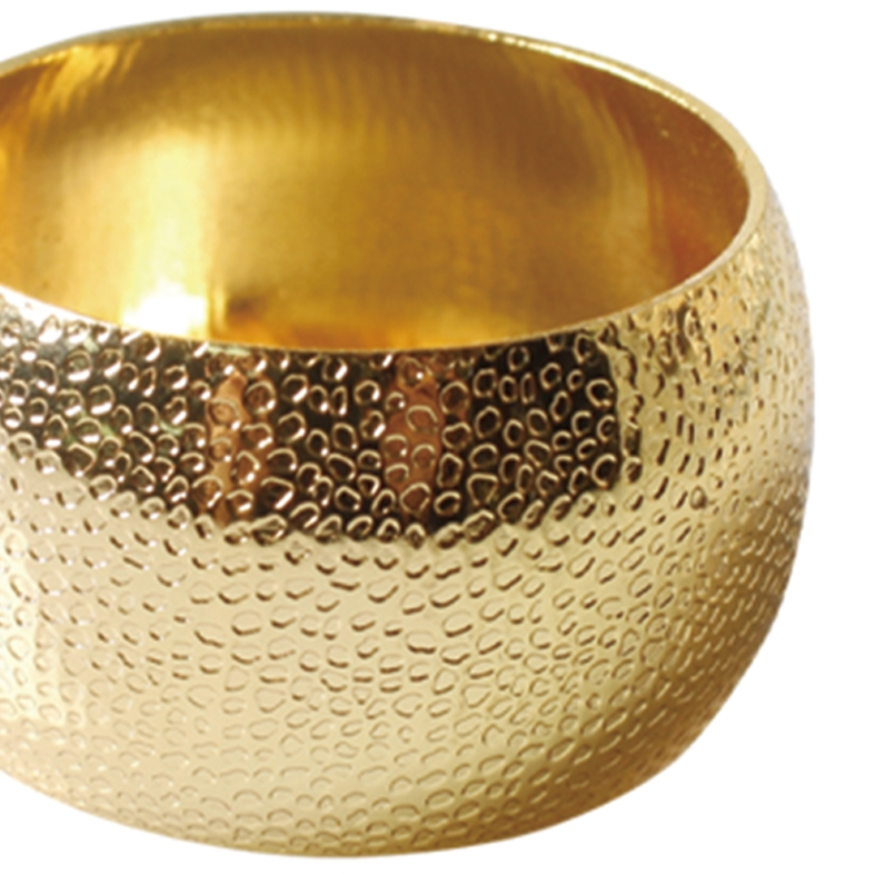 Porta Guardanapo Textura Dourado 4 Peças
