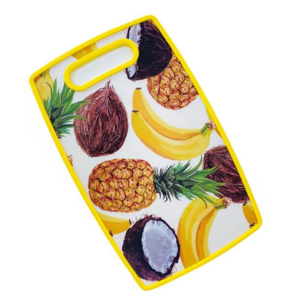 Tábua de Corte 37x23cm Frutas Amarelo Class Home