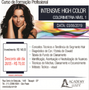 ACADEMY LUSTY TATUAPÉ/SP - INGRESSO PARA CURSO INTENSIVE HIGH COLOR (COLORIMETRIA NÍVEL I) - DIA 03/06/2019