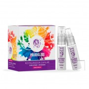 Kit Ampolas Power Gloss LUSTY (Restaurador Capilar-Termo Ativo) Display com 6 Frascos de 15ml cada