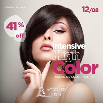 ACADEMY LUSTY /SP - INGRESSO PARA CURSO INTENSIVE HIGH COLOR - COLORIMETRIA I (12/08/19)