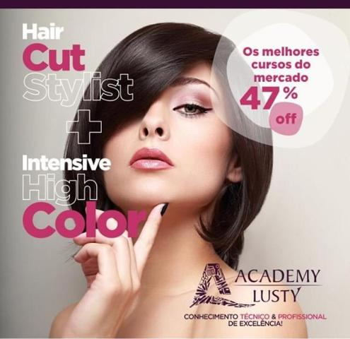 ACADEMY LUSTY /SP - INGRESSO PARA DOIS CURSOS HAIR CUT STYLIST - CORTE (22/07/19) E INTENSIVE HIGH COLOR - COLORIMETRIA I (12/08/19)
