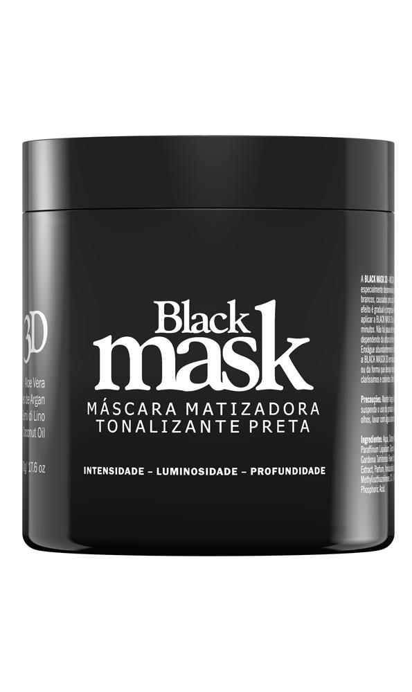 Black Mask 3D LUSTY (Mascara Matizadora Tonalizante Preta Profissional) 250 g ou 500 g