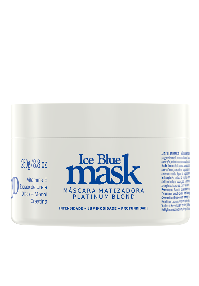 Iceblue Mask 3D LUSTY Professional (Máscara Matizadora Platinum Blond) 250 g