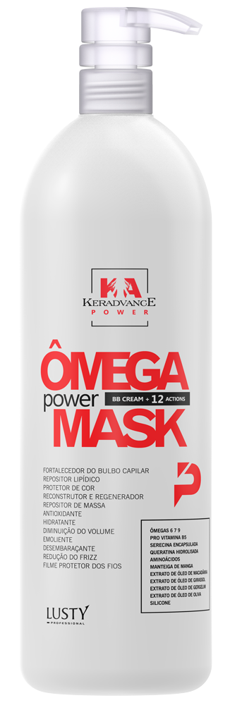 KA PW Ômega Power Mask KERADVANCE Professional (Máscara Reconstrutora Instantânea) - BB Cream + 12 Actions 1.000 ml