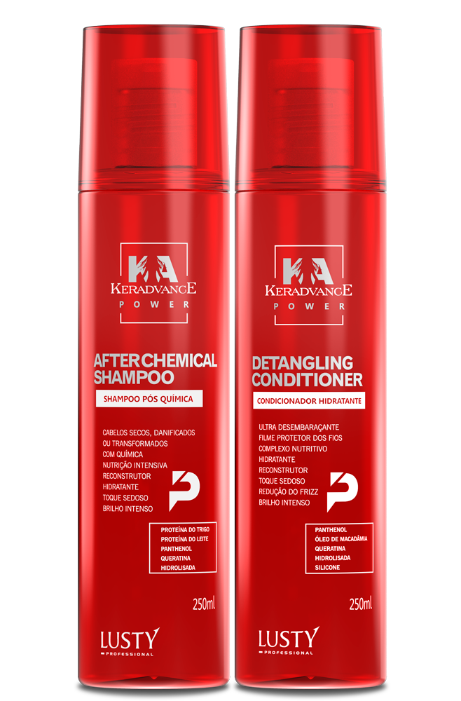 Kit After Chemical KERADVANCE Professional (Kit Pós Química - Profissional) 2 itens com 250 ml cada