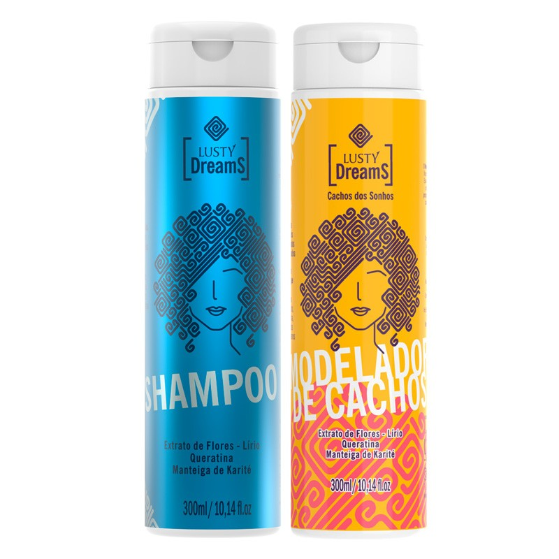 Kit Lusty Dreams - Shampoo e Modelador 300ml - Lusty Professional